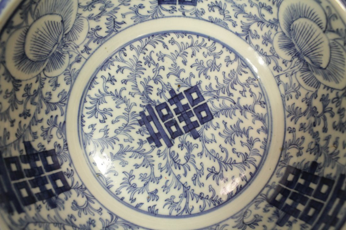Chinese antique blue and white bowl - 6
