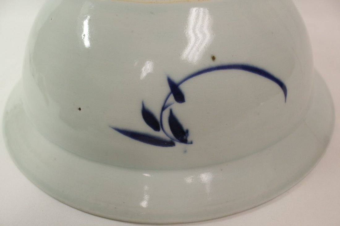 Chinese antique blue and white bowl - 9