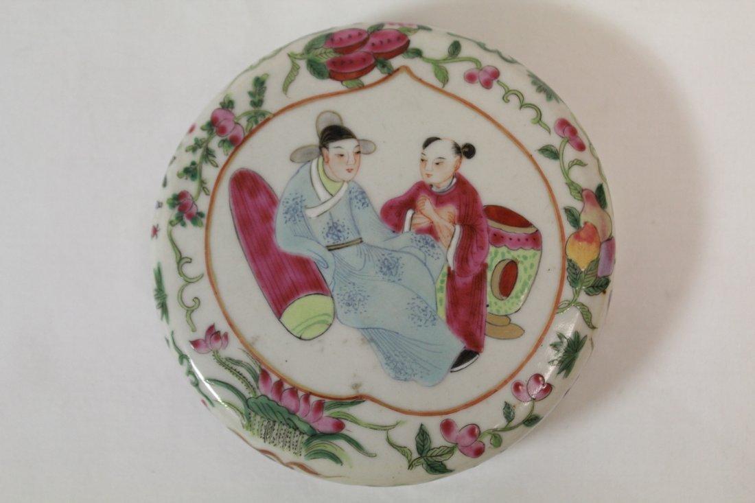 Chinese vintage famille rose porcelain candy jar - 10