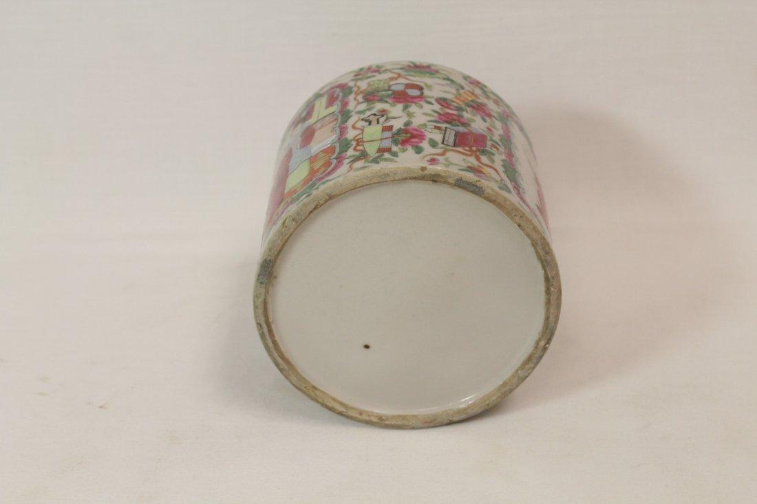 Chinese vintage famille rose porcelain candy jar - 5