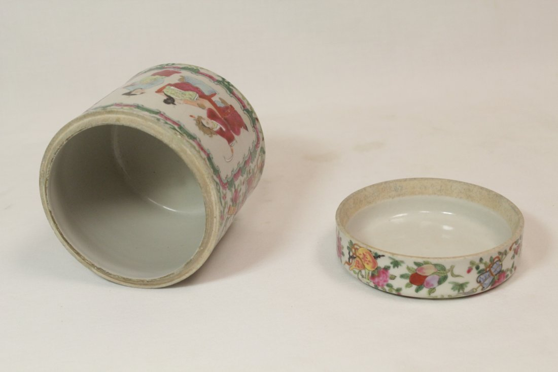 Chinese vintage famille rose porcelain candy jar - 6