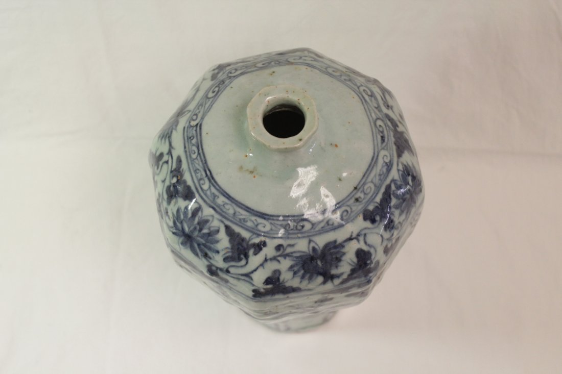 Chinse blue and white meiping - 5
