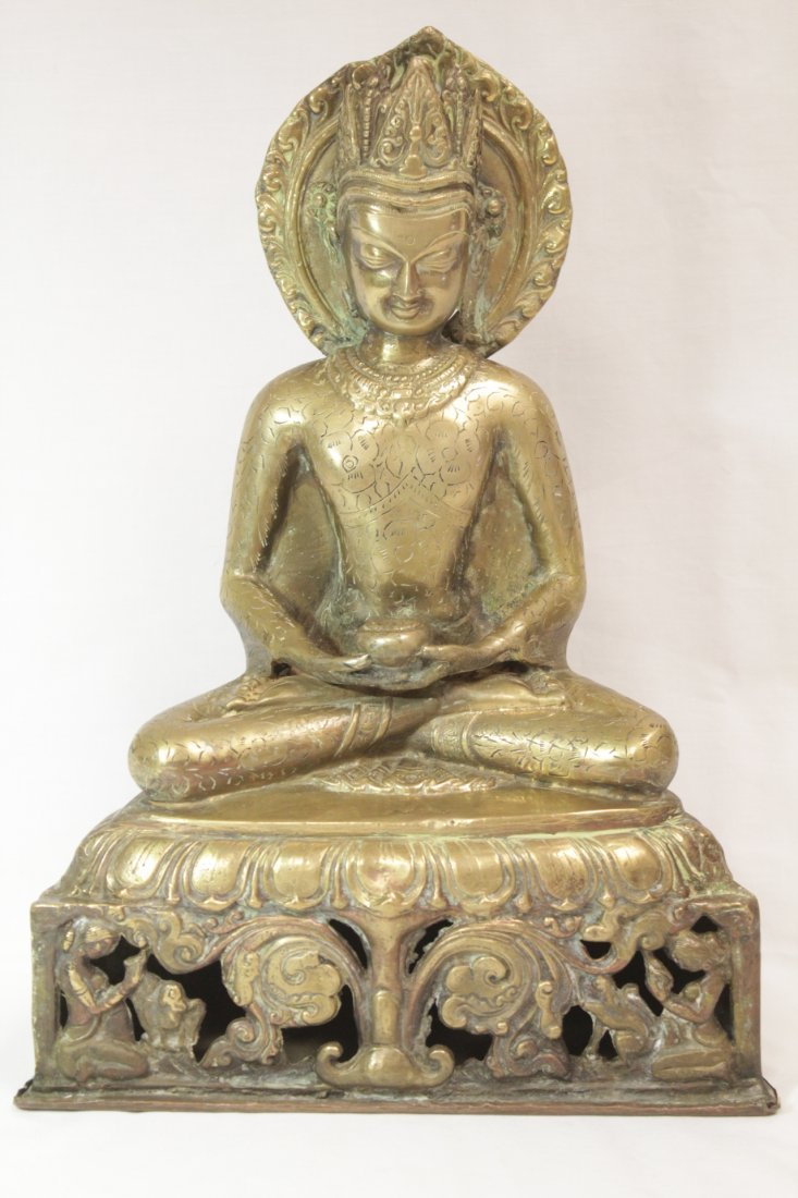 Chinese brass sculpture of Buddha