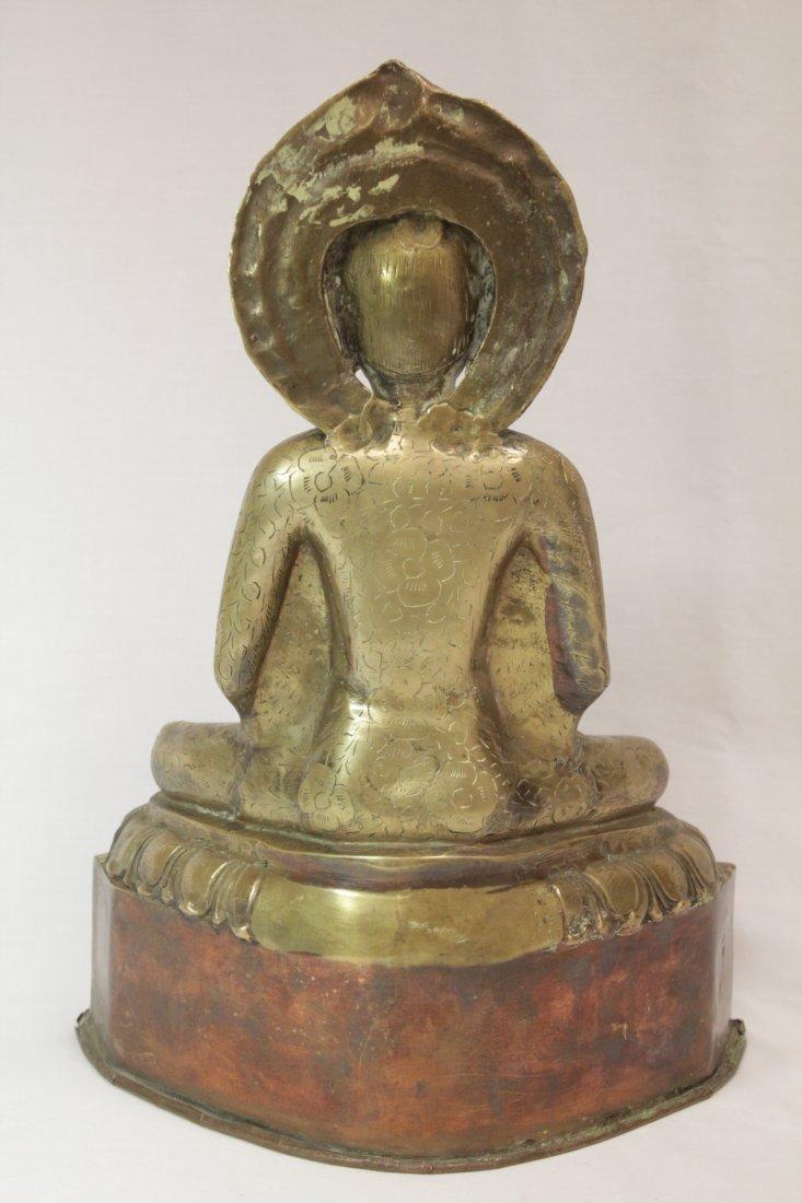 Chinese brass sculpture of Buddha - 2