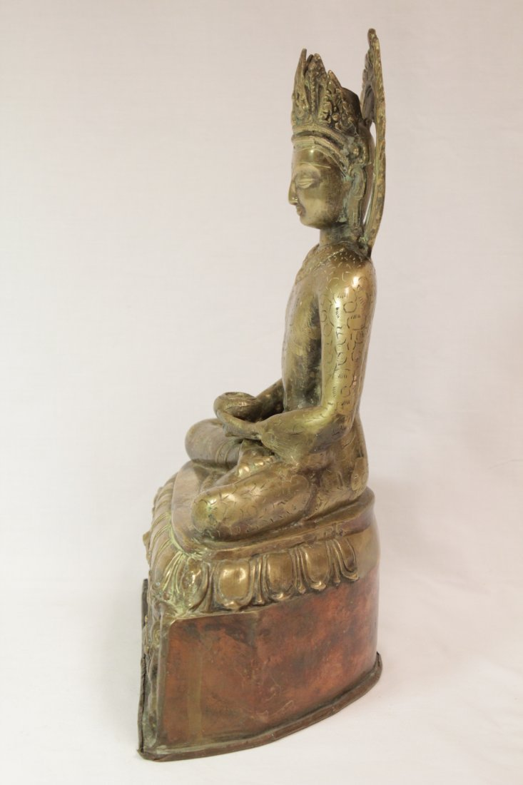 Chinese brass sculpture of Buddha - 3