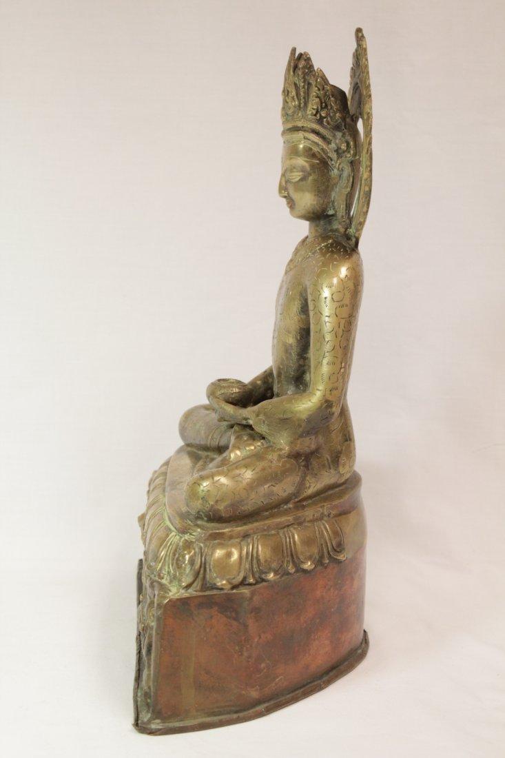 Chinese brass sculpture of Buddha - 3