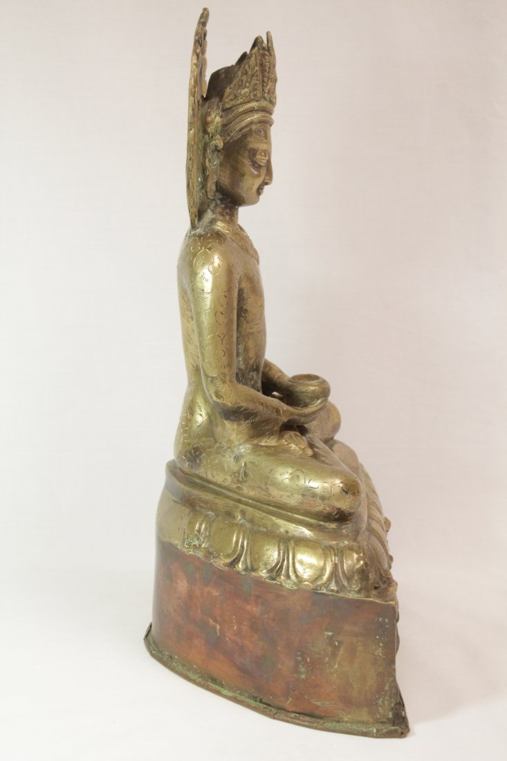 Chinese brass sculpture of Buddha - 4