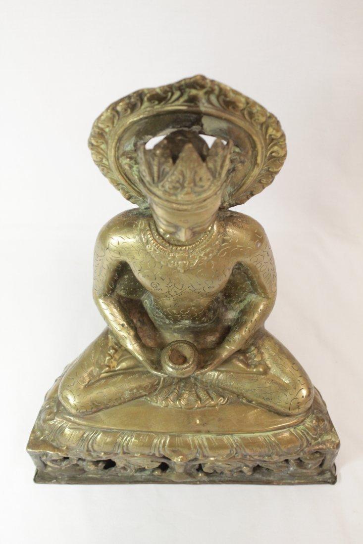 Chinese brass sculpture of Buddha - 5