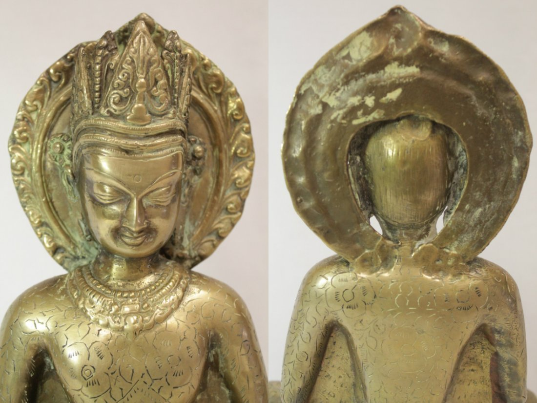 Chinese brass sculpture of Buddha - 6