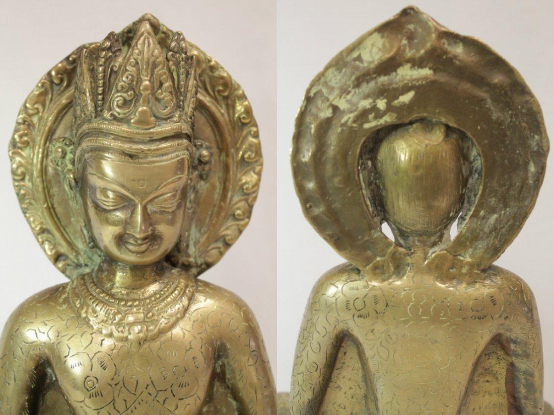 Chinese brass sculpture of Buddha - 6