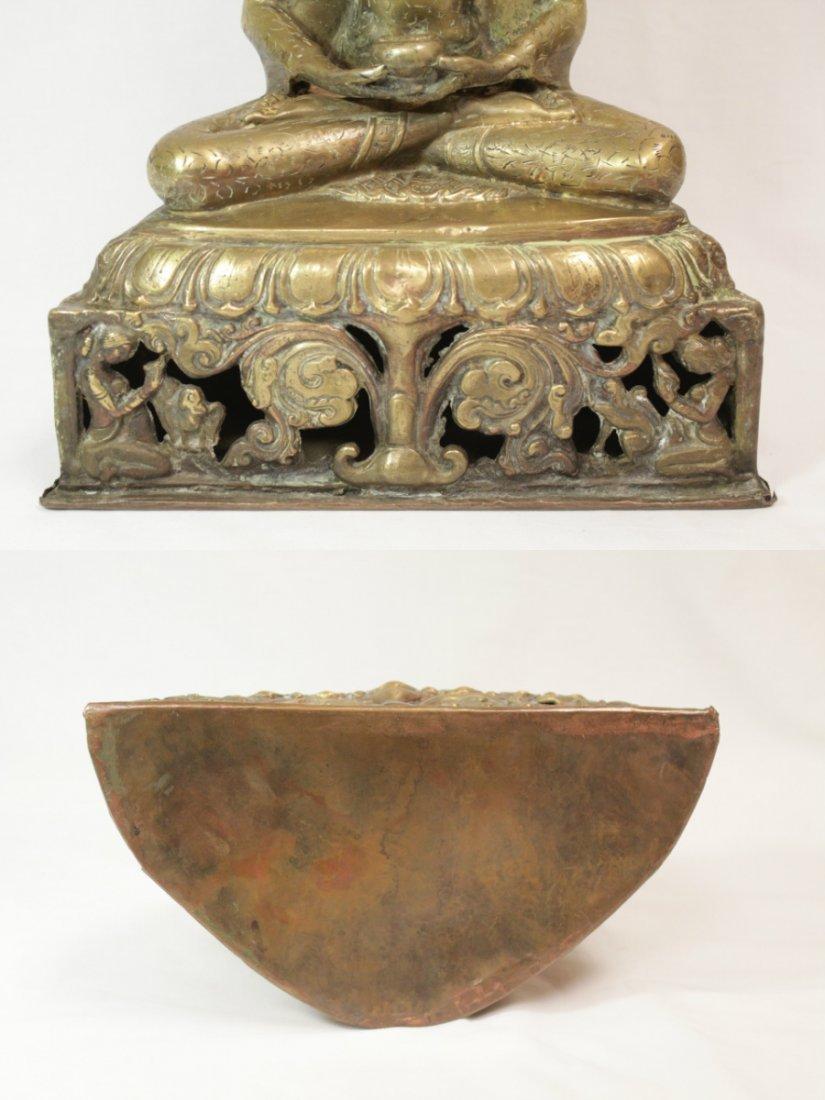 Chinese brass sculpture of Buddha - 7
