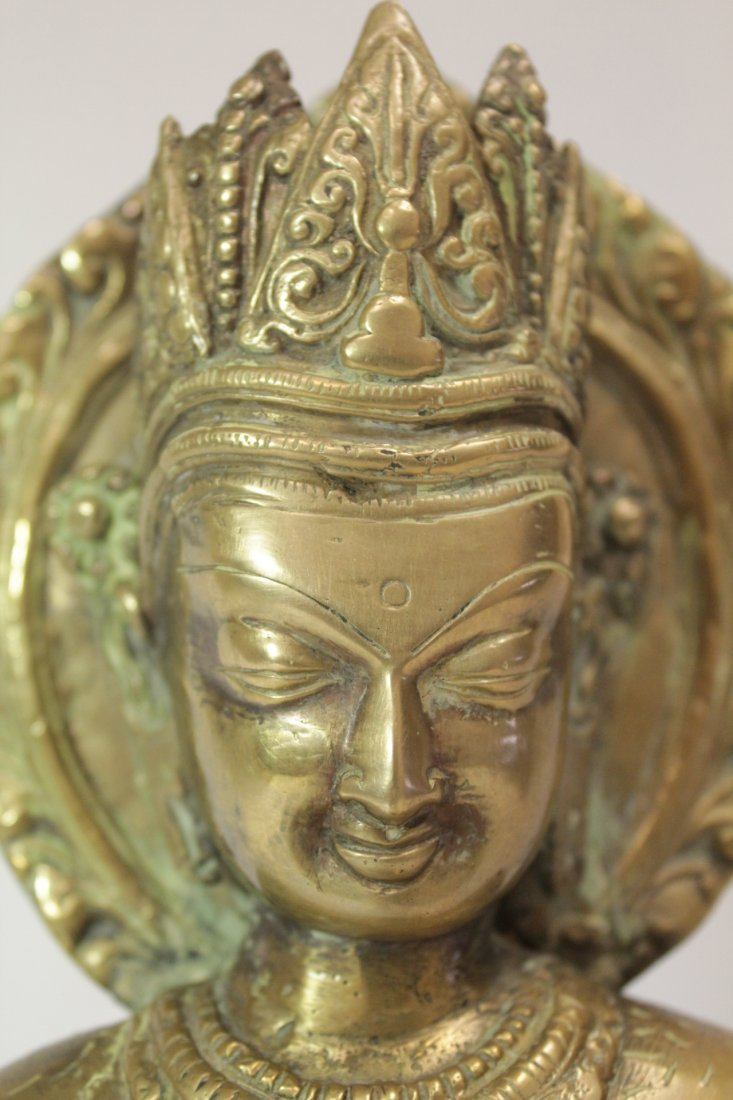 Chinese brass sculpture of Buddha - 8