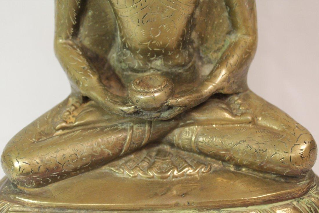 Chinese brass sculpture of Buddha - 9