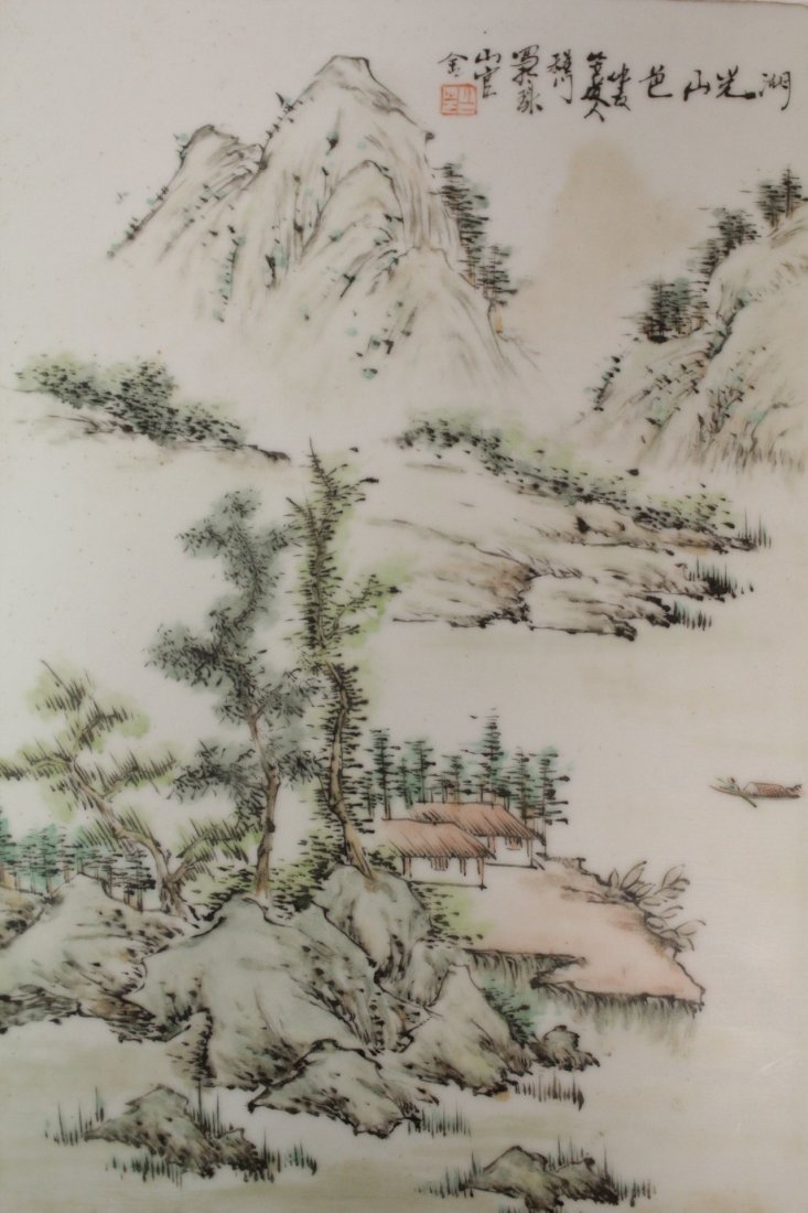 Chinese unframed porcelain plaque - 2