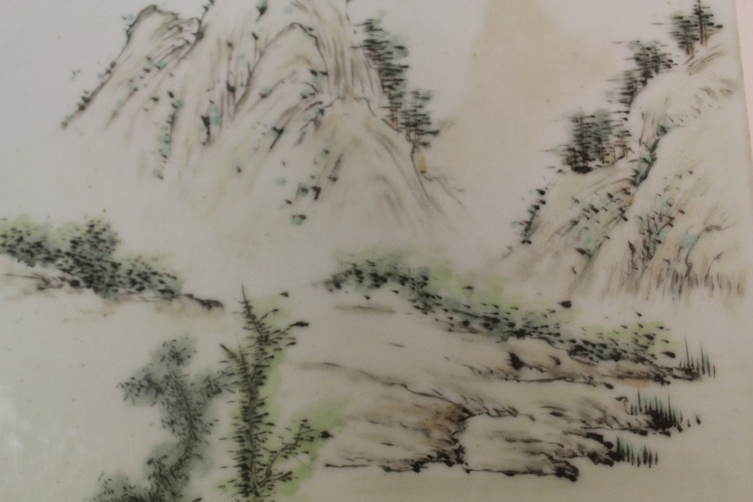 Chinese unframed porcelain plaque - 6
