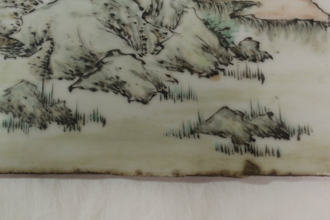 Chinese unframed porcelain plaque - 9