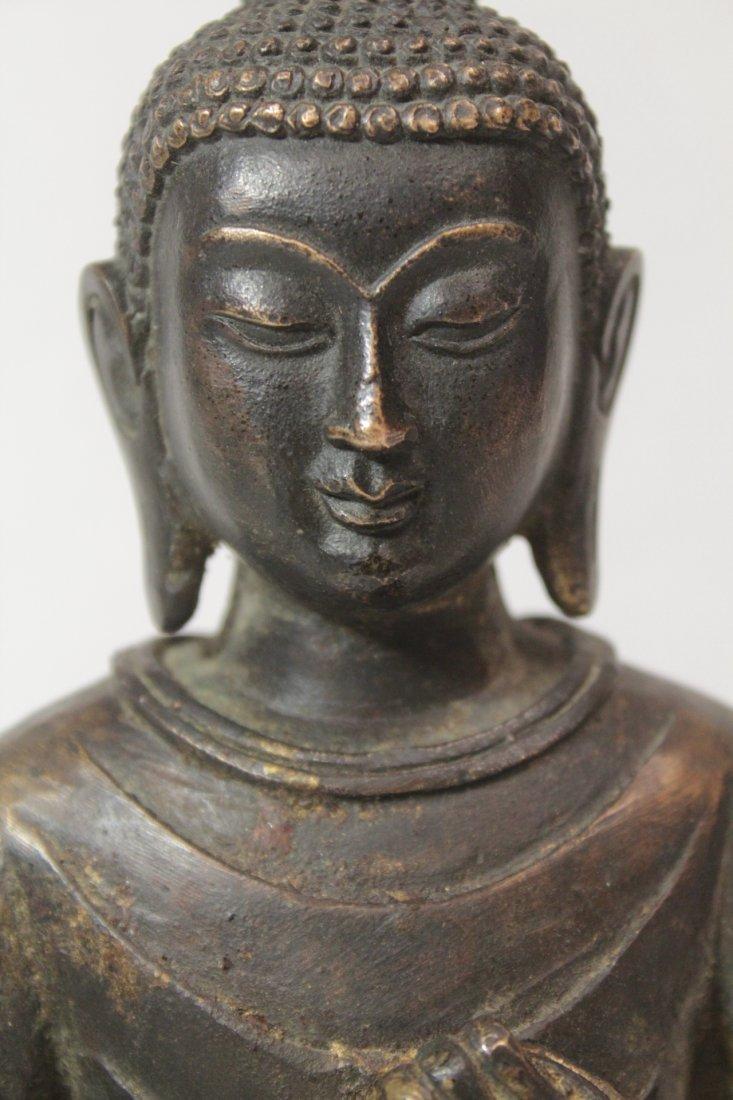 Chinese bronze/brass sculpture of Buddha - 10