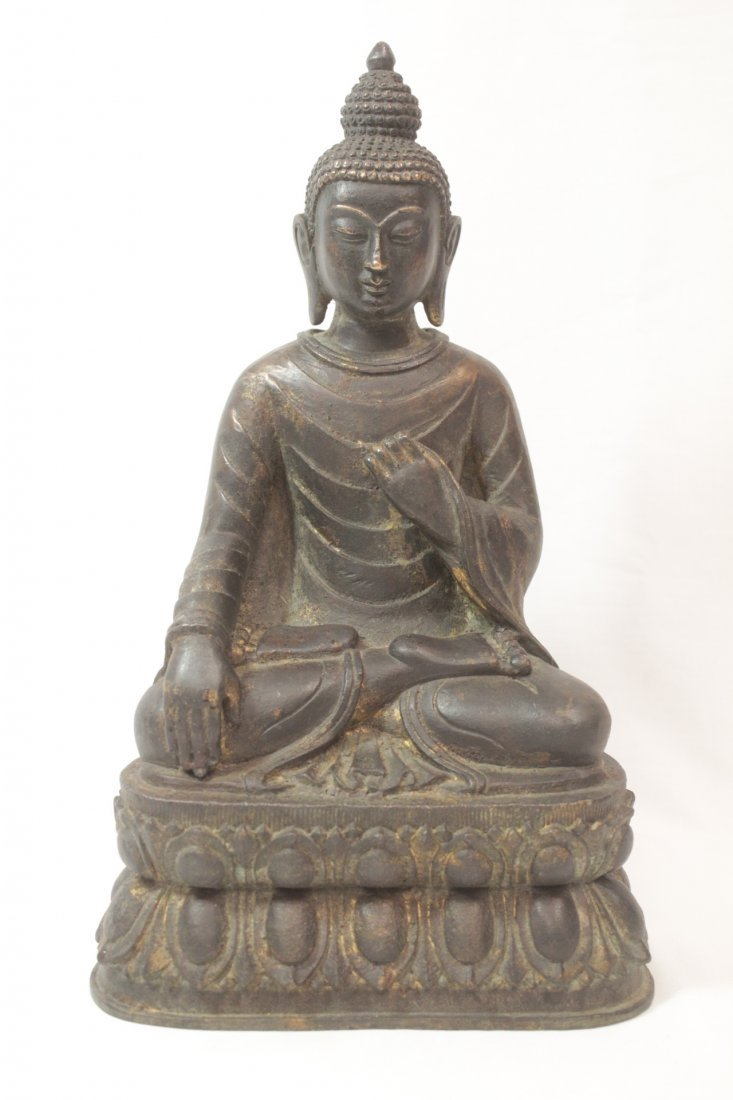 Chinese bronze/brass sculpture of Buddha