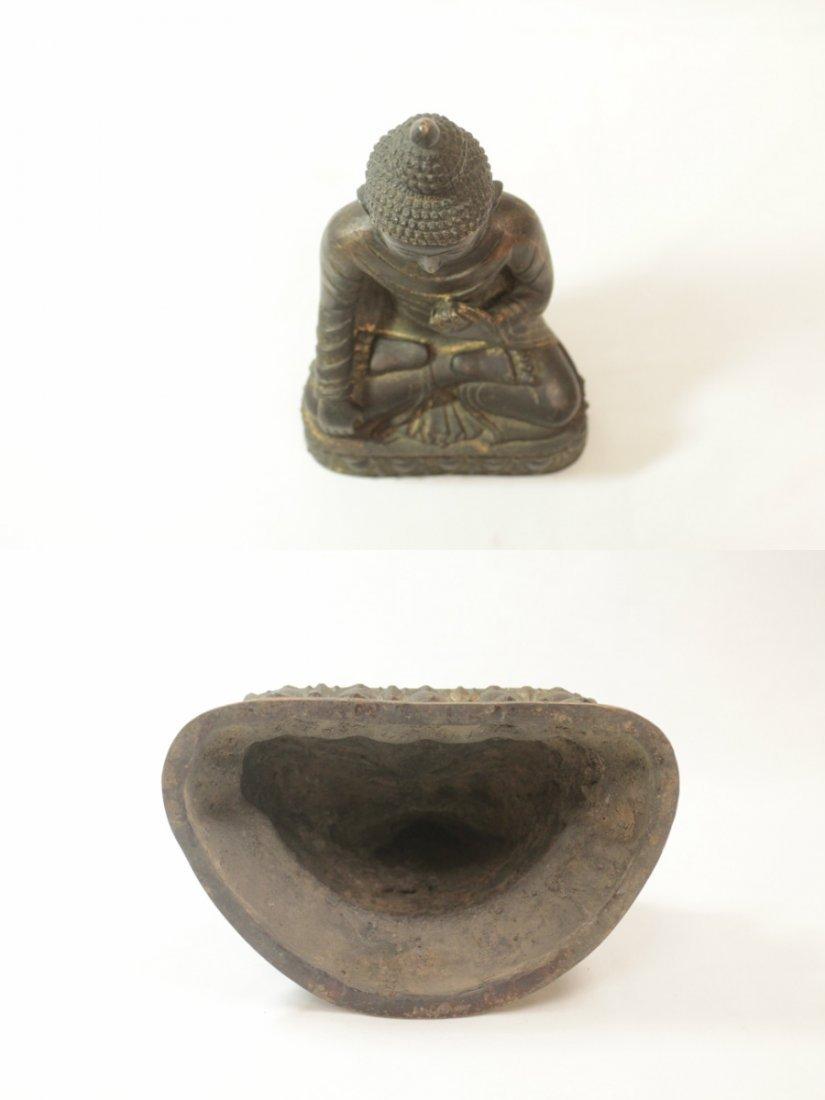 Chinese bronze/brass sculpture of Buddha - 5