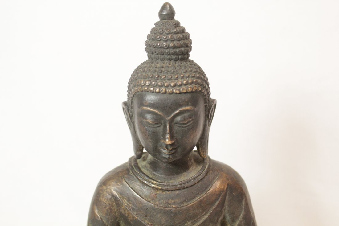 Chinese bronze/brass sculpture of Buddha - 6