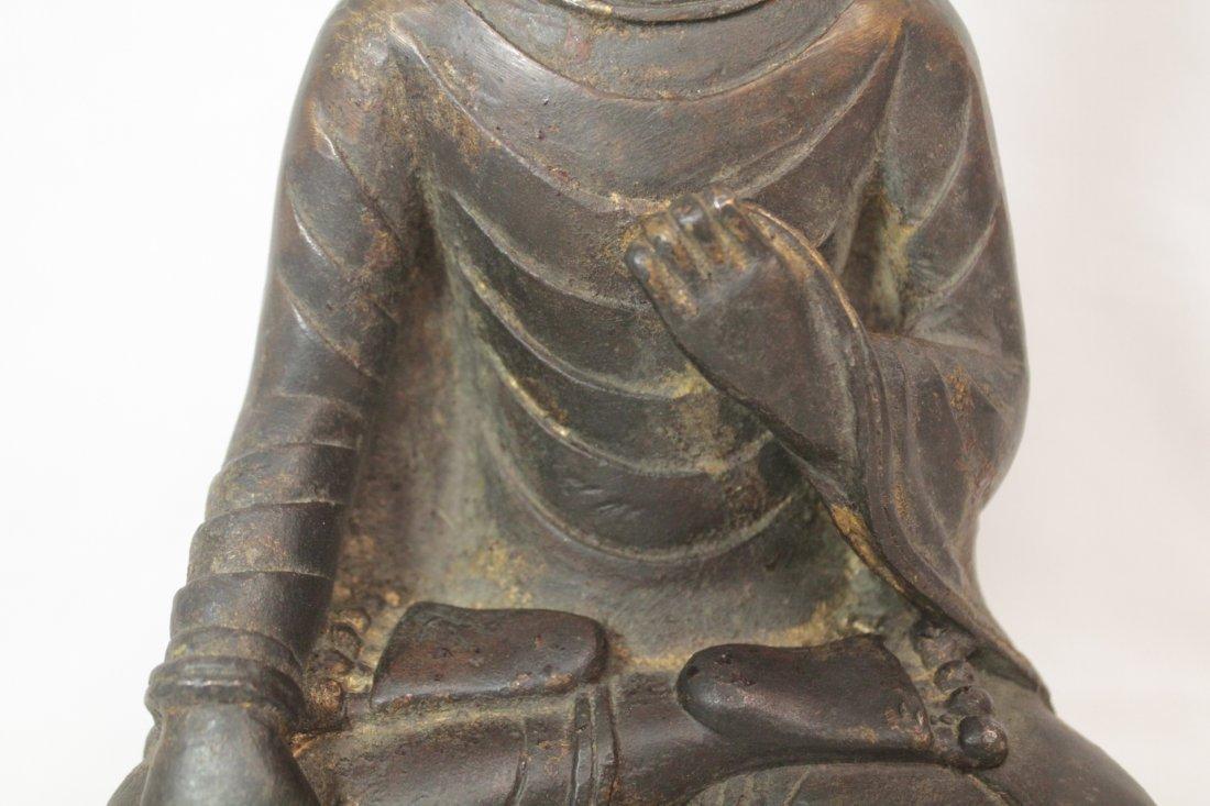 Chinese bronze/brass sculpture of Buddha - 7