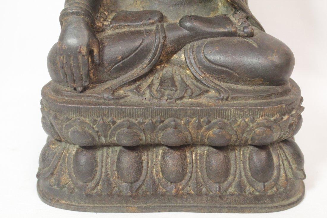 Chinese bronze/brass sculpture of Buddha - 8