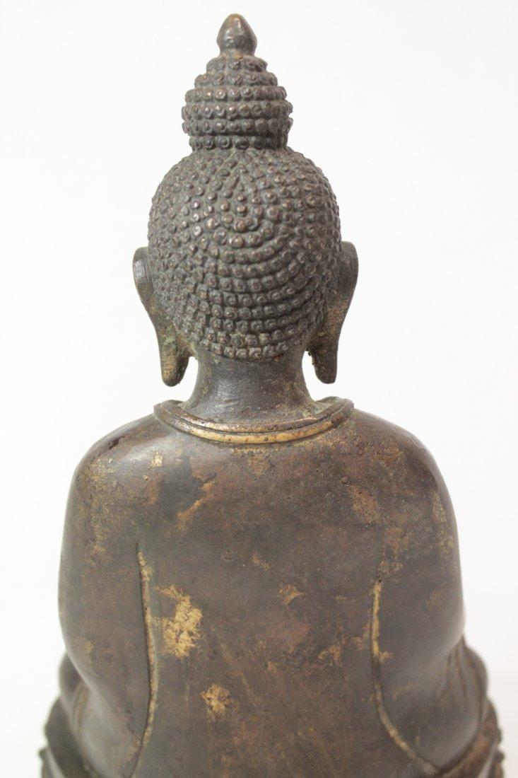 Chinese bronze/brass sculpture of Buddha - 9