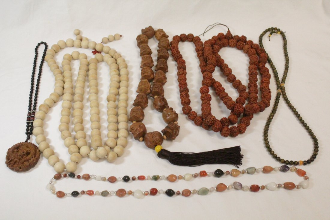 6 Chinese bead necklaces