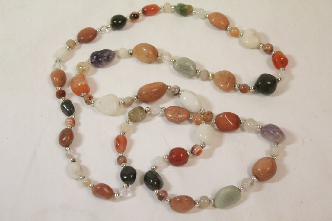 6 Chinese bead necklaces - 8