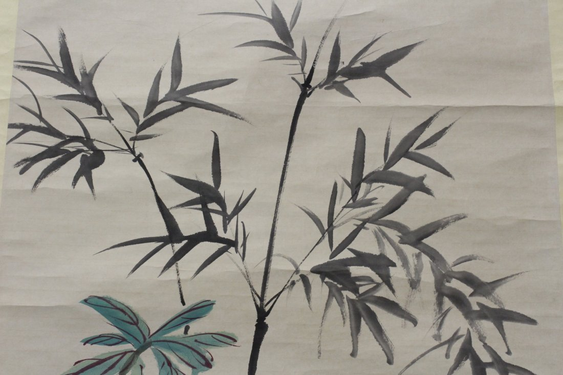 "Chinese watercolor scroll ""flowers"" - 7"