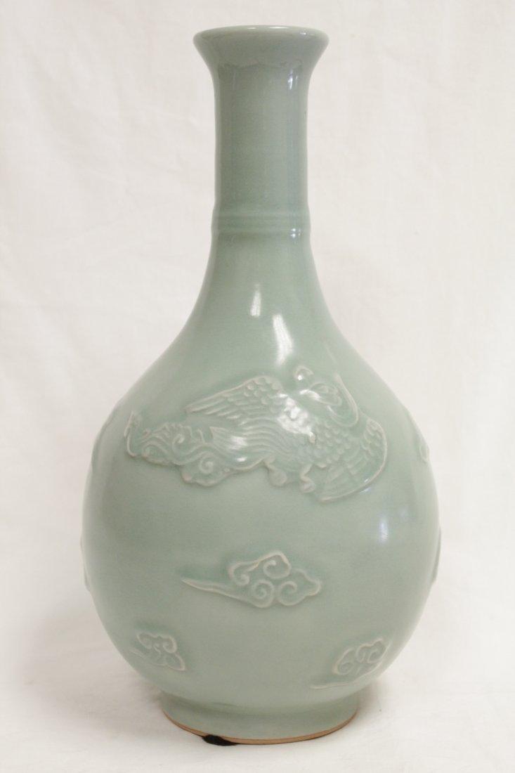 Chinese celadon porcelain vase - 3