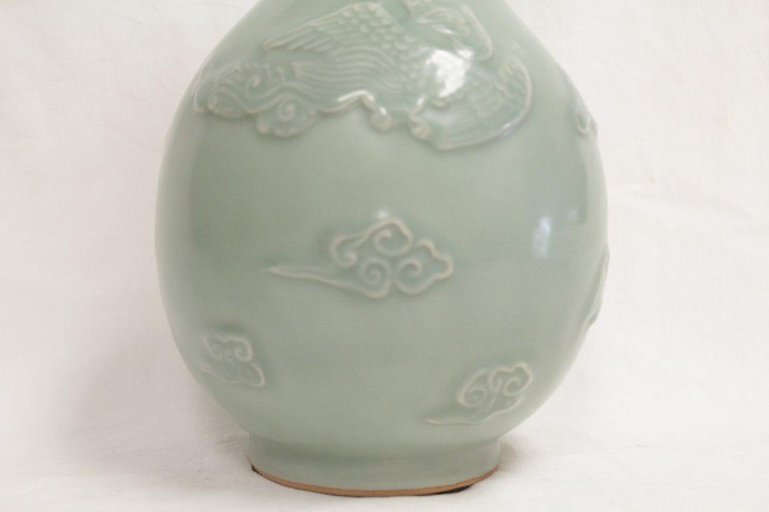 Chinese celadon porcelain vase - 7