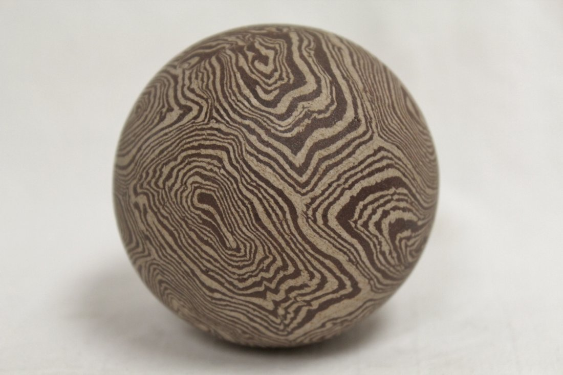 Marble glazed ball - 2