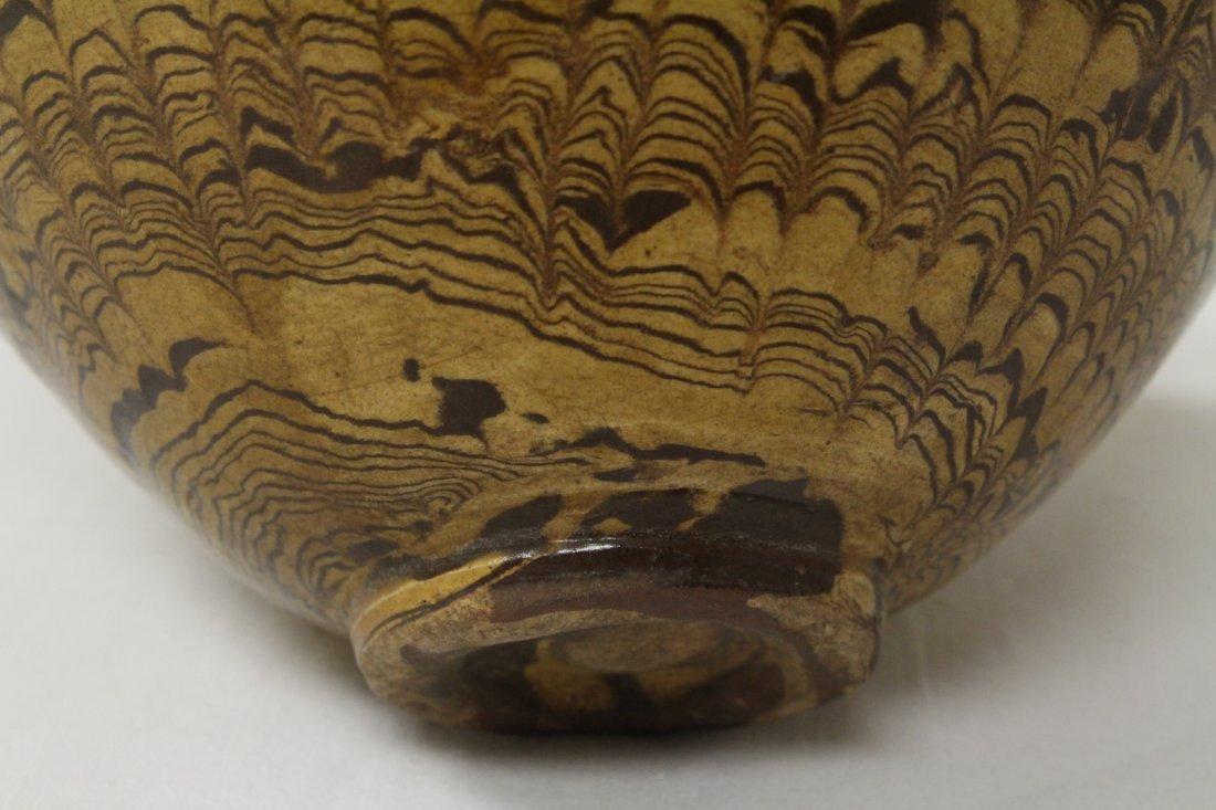 Chinese marble glazed bowl - 10