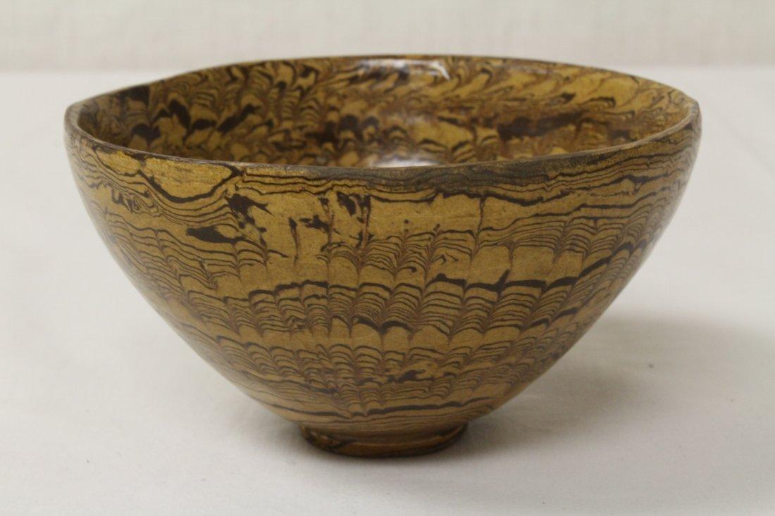 Chinese marble glazed bowl - 2