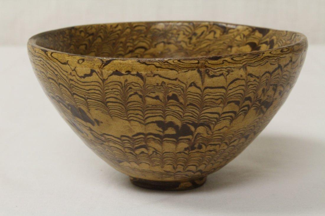Chinese marble glazed bowl - 3