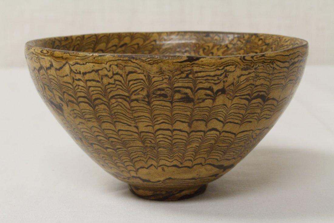 Chinese marble glazed bowl - 4