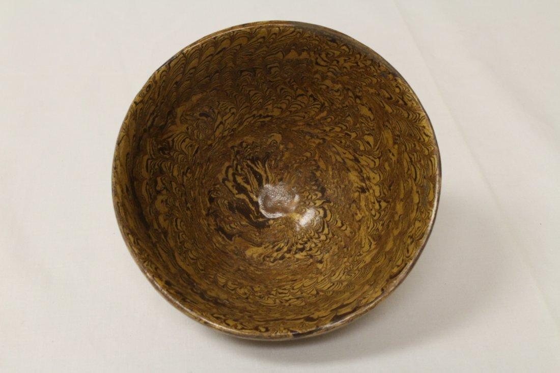 Chinese marble glazed bowl - 5