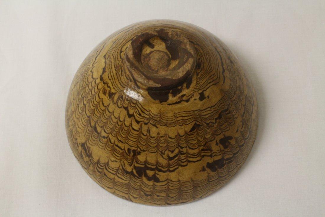 Chinese marble glazed bowl - 6
