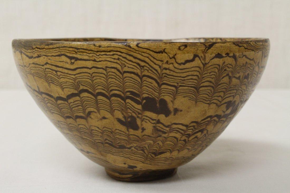 Chinese marble glazed bowl - 9