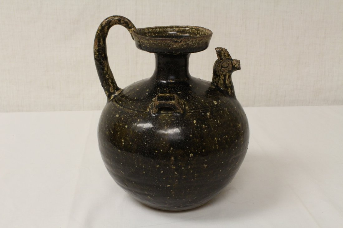 Song style brown glazed wine jar