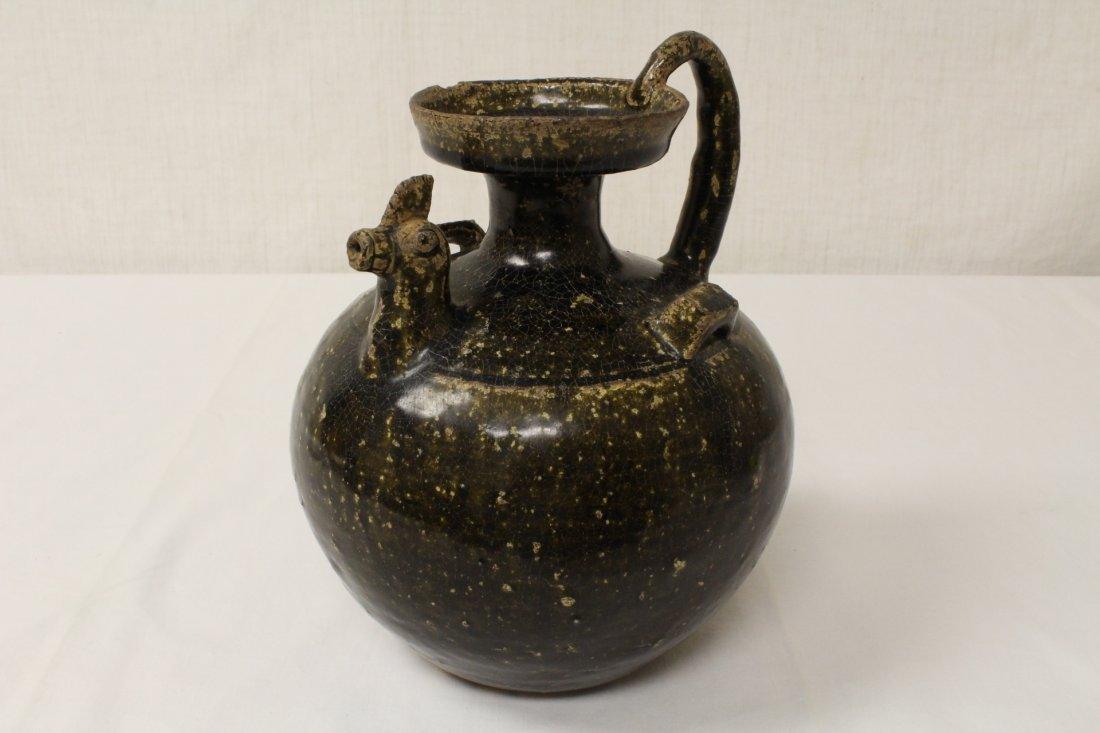 Song style brown glazed wine jar - 3
