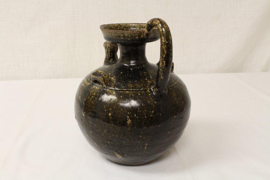 Song style brown glazed wine jar - 4