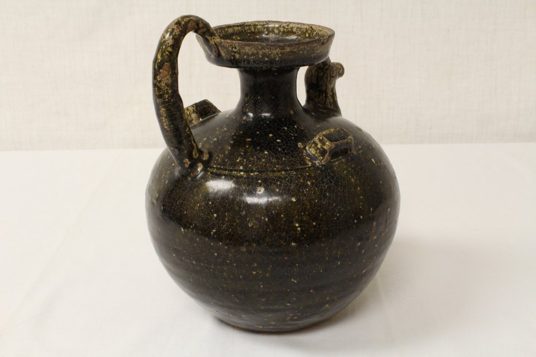 Song style brown glazed wine jar - 5