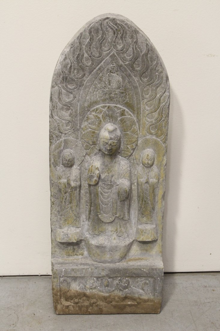 Large Chinese stone carved plaque