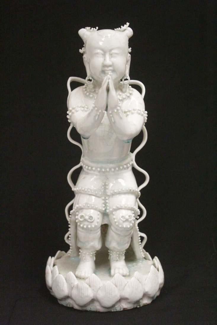 Chinese Song yingqing style porcelain figure