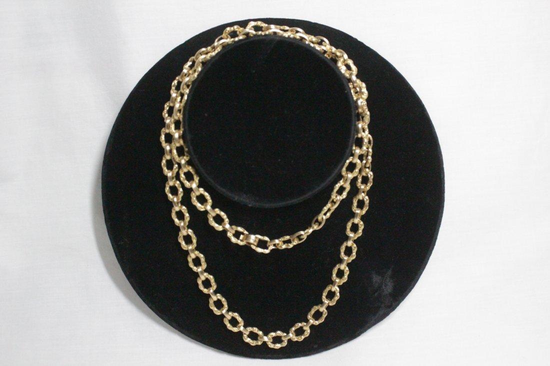 18K Y/G fancy link necklace by Van Cleef & Arpels