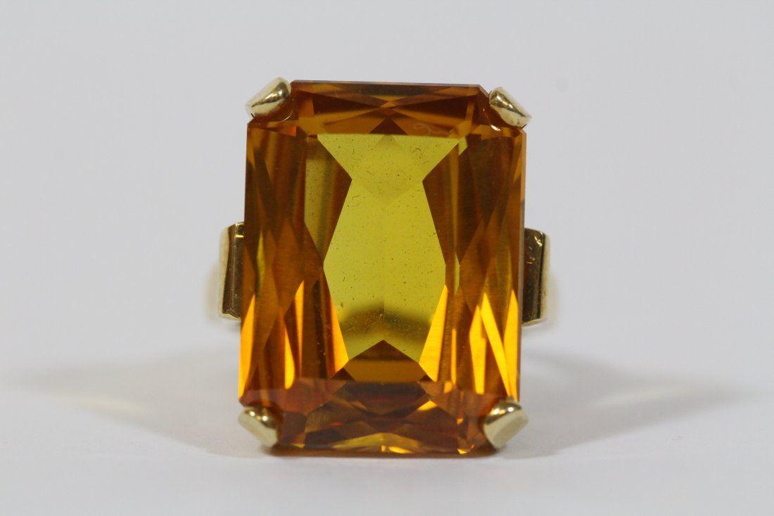 A fine 14K citrine ring