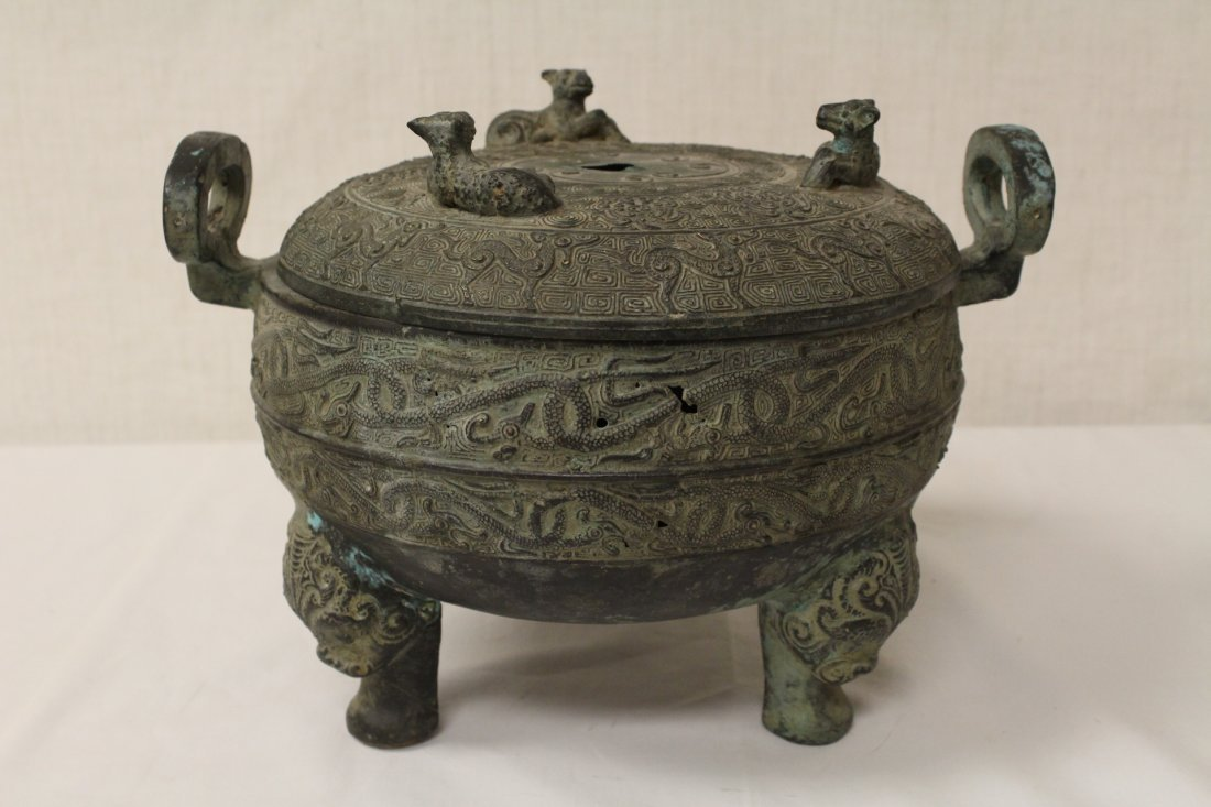 Chinese archaic style bronze 3 feet ding
