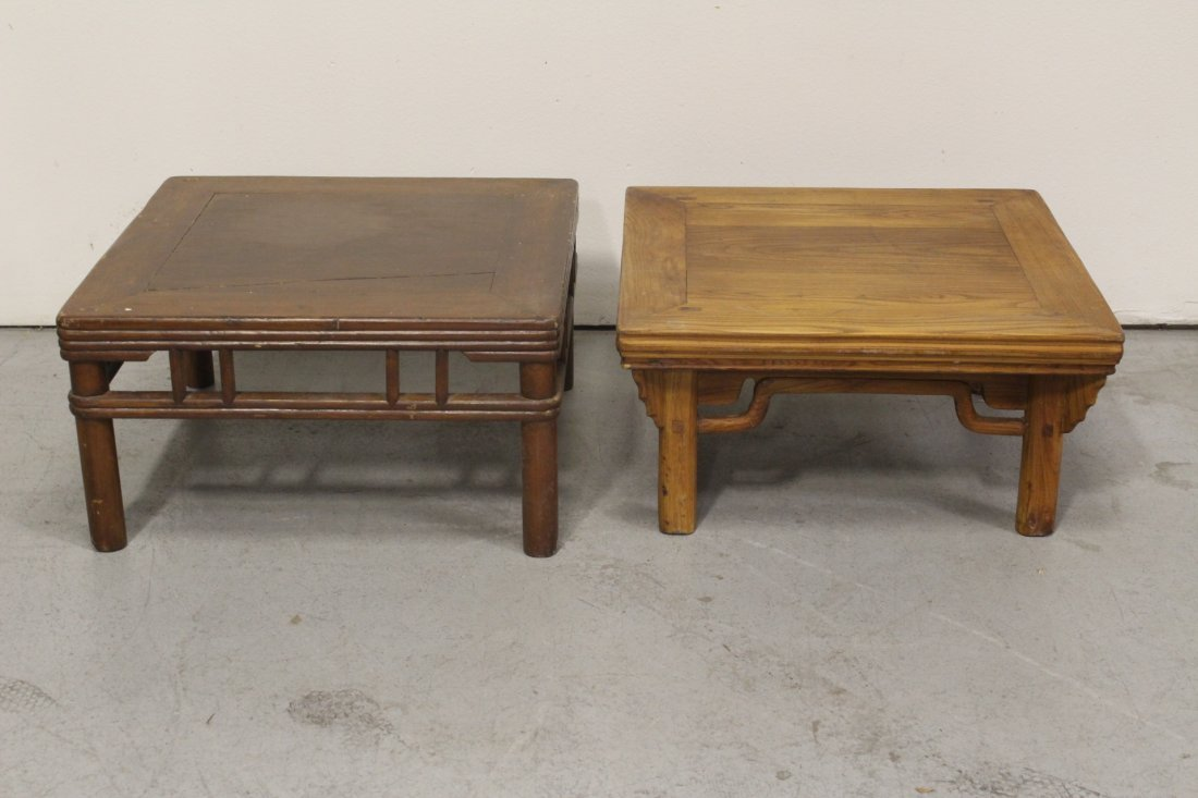 2 Chinese vintage rosewood(?) small tables